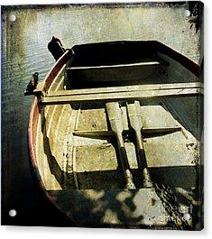 Rowboat Acrylic Print by Bernard Jaubert