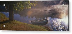Rowboat Lake Nh Acrylic Print by Panoramic Images