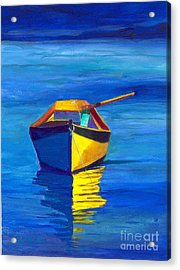 Rowboat Acrylic Print by Sandy Linden