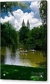 Rowboats Central Park New York Acrylic Print by Amy Cicconi