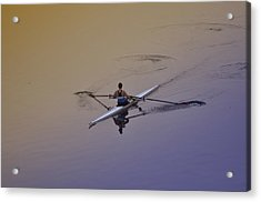 Rower Acrylic Print by Bill Cannon