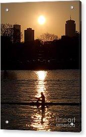 Rower Sunrise Acrylic Print