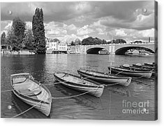 Rowing Boats Acrylic Print