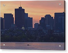 Rowing Boston Acrylic Print by Juergen Roth