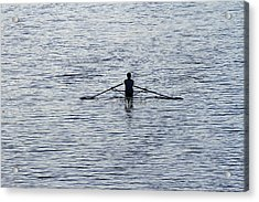 Rowing Acrylic Print by Juergen Roth