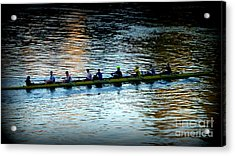 Rowing On The River Acrylic Print by Susan Garren
