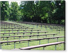 Acrylic Print featuring the photograph Rows And Rows Of Seats by Ramona Whiteaker