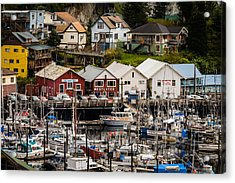 Rows Of Houses And Sails Acrylic Print by Melinda Ledsome