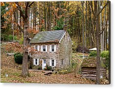Roxbury Mill In Autumn Acrylic Print