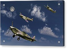 Royal Air Force Supermarine Spitfires Acrylic Print by Mark Stevenson