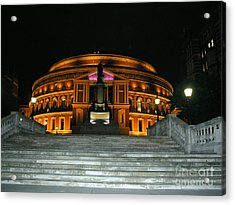 Royal Albert Hall At Night Acrylic Print by Bev Conover