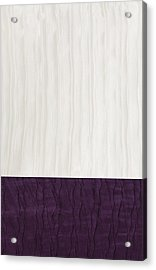 Royal Aubergine - Royal Purple Acrylic Print by Margaret Ivory