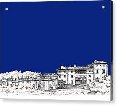 Royal Blue Vizcaya In Miami Acrylic Print by Building  Art
