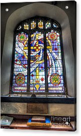 Royal British Legion Window Acrylic Print by Adrian Evans