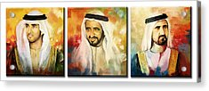 Royal Collage Acrylic Print by Corporate Art Task Force