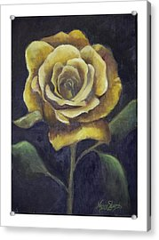 Royal Gold Bloom Acrylic Print by Nancy Edwards