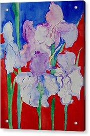 Royal Iris Acrylic Print by Phoenix Simpson