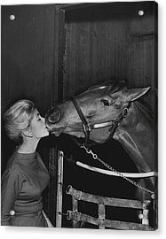 Royal Kiss Horse Racing Vintage Acrylic Print by Retro Images Archive