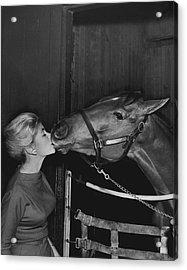 Royal Kiss Horse Racing Vintage Acrylic Print