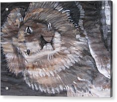 Acrylic Print featuring the painting Royal Lion by Vikram Singh