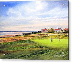Royal Liverpool Golf Course Hoylake Acrylic Print by Bill Holkham