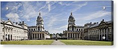 Royal Naval College Courtyard Acrylic Print by Heather Applegate