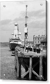 Royal Navy Docks And Hms Defender Acrylic Print