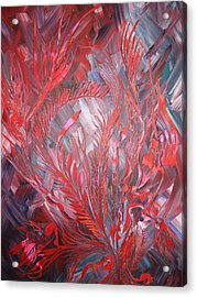 Acrylic Print featuring the painting Royal by Nico Bielow