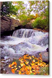 Royal River White Waterfall Acrylic Print