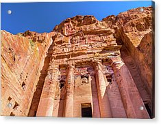 Royal Rock Tomb Arch Petra Jordan Acrylic Print