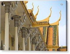 Royal Roof Cambodia Acrylic Print by Bill Mock