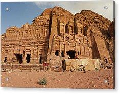 Royal Tombs At Ancient Nabatean City Acrylic Print