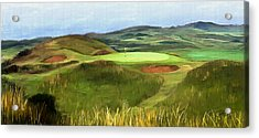 Royal Troon - Hole 8 - Postage Stamp Acrylic Print by Scott Melby
