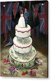Royal Wedding 2011 Cake Acrylic Print