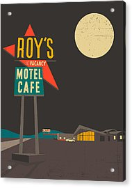 Roys Cafe Acrylic Print by Jazzberry Blue