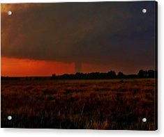 Acrylic Print featuring the photograph Rozel Tornado On The Horizon by Ed Sweeney