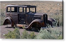Acrylic Print featuring the photograph Rt 66 And Nowhere To Go by Debby Pueschel
