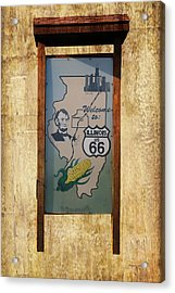 Rt 66 Towanda Il Welcome Signage Acrylic Print by Thomas Woolworth