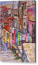 Rua Conticeira Brazil  Acrylic Print by Mohamed Hirji
