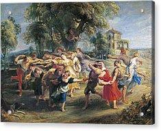 Rubens, Peter Paul 1577-1640. A Peasant Acrylic Print by Everett
