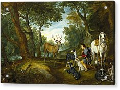 Rubens, Peter Paul 1577-1640 Breugel Acrylic Print by Everett