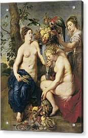 Rubens, Peter Paul 1577-1640. Ceres Acrylic Print by Everett