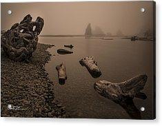 Ruby Beach Fog Acrylic Print