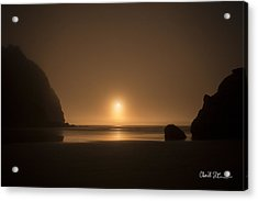 Ruby Beach Sunset Acrylic Print