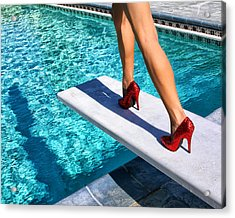 Ruby Heels Ready For Take-off Palm Springs Acrylic Print by William Dey