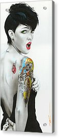 Ruby Rose - ' Ruby IIi ' Acrylic Print by Christian Chapman Art