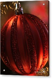 Ruby Red Christmas Acrylic Print by Linda Shafer