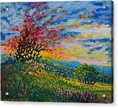 Ruby Tree Ablaze Acrylic Print