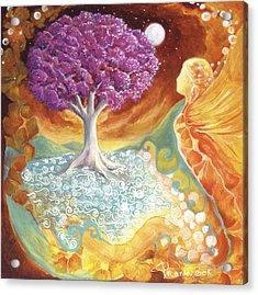Ruby Tree Spirit Acrylic Print by Valerie Graniou-Cook