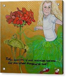 Ruby's Dance Acrylic Print